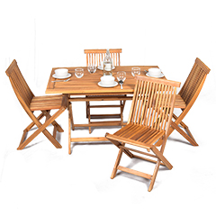 Greenfingers Hawaii 4 Seater Dining Set - 120cm Table