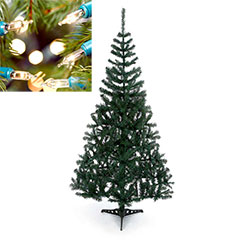 6ft Cedar Fir Tree with Warm White 80 Static String Lights