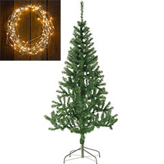 7ft Fir Tree with Warm White 50 Static String Lights