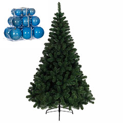 5ft Pine Tree with Powder Blue Gloss Baubles