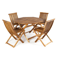 Greenfingers Alnwick 4 Seater Folding Dining Set
