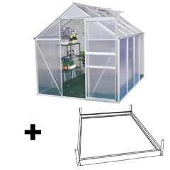 Terra Aluminium Greenhouse and Base - 6 x 8ft