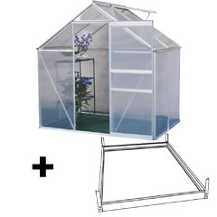 Terra Aluminium Greenhouse and Base 4 x 6ft