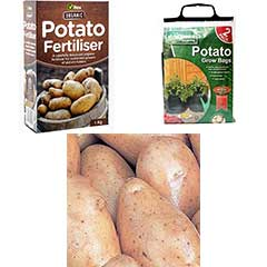 Potato Growing Kit - Seeds fertiliser and 2x growbags