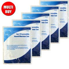 Disposable Hand Warmer Set x 5 Multi-Buy