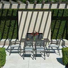 Alexander Rose Portofino 6 Armchairs 145cm Rectangular Table Dining Set
