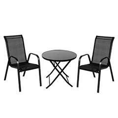Ellister Siena 2 Seater Bistro Set - Black