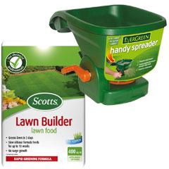 Evergreen Handy Spreader with Scotts Lawnbuilder 400sqm Kit