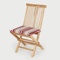 Greenfingers Teak Folding Chair with Cushion - Candy