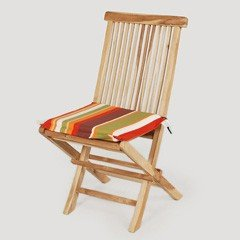 Greenfingers Teak Folding Chair with Cushion - Autumn