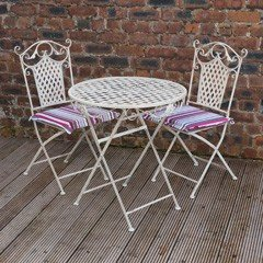 Greenfingers Gibraltar 2 Seater Patio Set  - Candy Cushions