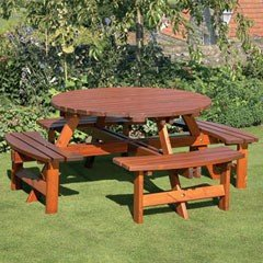 Anchor Fast Richmond Pine 134cm Round Picnic Table