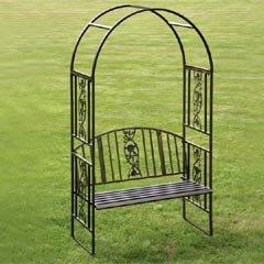 Ornamental Garden Bench Arch