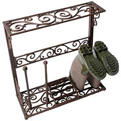 Fallen Fruits 2 Pair Victorian Cast Iron Boot Rack