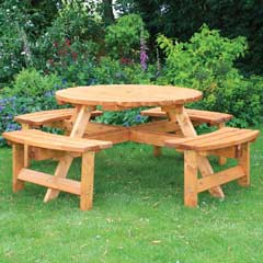 Anchor Fast Somerset Round Picnic Bench