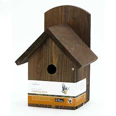 Chapelwood Wild Bird FSC Pine Nest Box - Dark Wood
