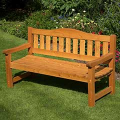 Anchor Fast Somerset Pine 3 Seater 160cm Bench