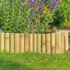 1m Gardman Bamboo Edging - H15cm