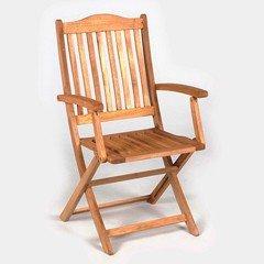 Greenfingers Cadiz FSC Acacia High Back Folding Armchair