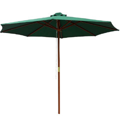 Greenfingers Crank Parasol - 2.7m Green