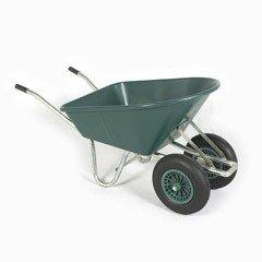 Greenfingers Twin-Wheeled Heavy Duty Plastic Wheelbarrow 114L