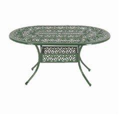 Ellister Stamford Oval Table - 152cm Dark Green