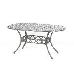 Ellister Stamford Oval Table - 150cm Light Grey