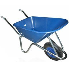 Greenfingers Value Plastic Wheelbarrow 80L Blue