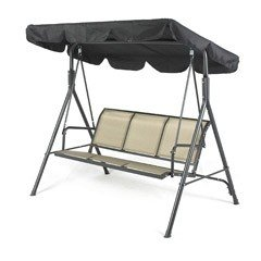 Greenfingers Siena 3 Seater Swing Seat - Black/Copper