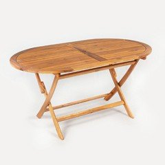 Greenfingers Portland FSC Acacia Oval Table - 150cm