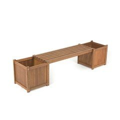 Greenfingers Loreto FSC Shorea Planter Box Bench