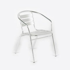 Greenfingers Kensington Bistro Chair - Aluminium