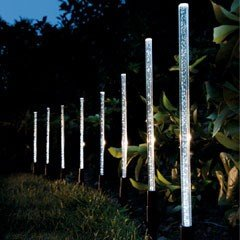 Gardman Crystal Bubble Stick Solar Light - 8 Pack
