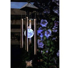 Cole and Bright Butterfly Wind Chime Solar Light