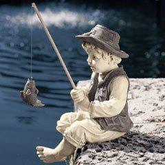 Design Toscano- Fredric The Little Fisherman of Avignon Garden Sculpture