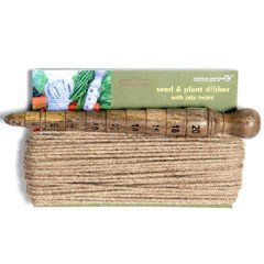 Wooden Seed And Plant Dibber With Twine