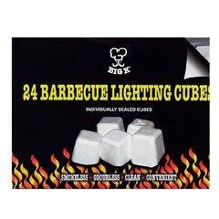 Big K BBQ Lighting Cubes - 24 cubes