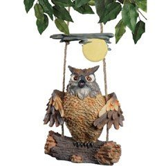 Design Toscano - Howie the Swinging Hoot Owl
