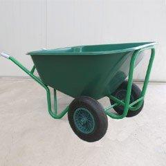 Greenfingers Heavy Duty Twin-Wheeled Plastic Wheelbarrow 130L