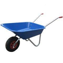 Greenfingers Budget Plastic Wheelbarrow 60L Blue