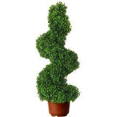 Gardman Leaf Effect Topiary Swirl Border Pot