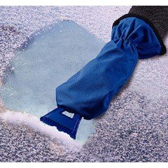 Windscreen Ice Scraper with Mitt