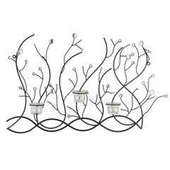 Gardman Designer Garden Living - Glass Bead Candle Wall Art