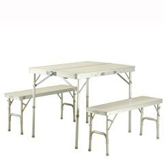 Columbus Deluxe Aluminium Folding Table and 2 Benches