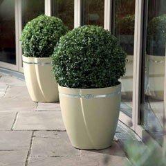 Italian Style Zurbano Sleek Round Planter 38cm