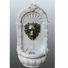 Bermuda Stone Effect Lions Mask Wall Mounted Water Feature