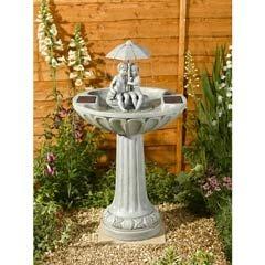 Smart Solar Ornamental Umbrella Fountain Water Feature
