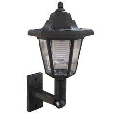 Black Solar Wall Lantern | Solar Lighting