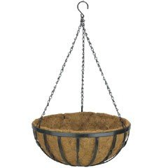 Botanico Round Hanging Basket with Coco Liner - 16in
