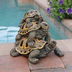 Design Toscano Three Stacked Up Turtles Garden Statue